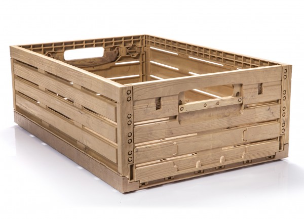 Klappbox in Holzoptik 40x30x16 cm