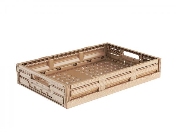 Klappbox in Holzoptik 60x40x12 cm
