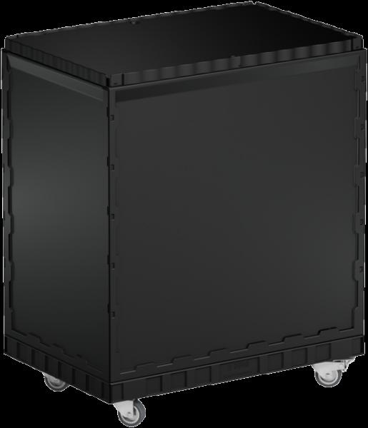 Smart-Display schwarz 75 cm ohne Logo/Druck mit Rollen