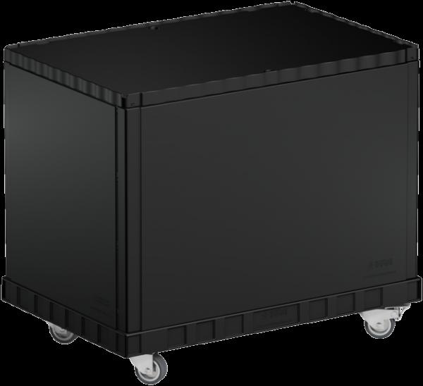 Smart-Display schwarz 55 cm ohne Logo/Druck mit Rollen