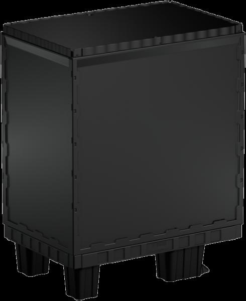 Smart-Display schwarz 75 cm ohne Logo/Druck mit Kufen