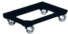 Rollwagen schwarz 61x41 cm