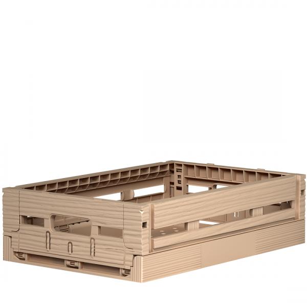 Klappbox in Holzoptik 20x30x8 cm